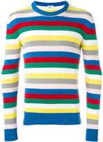 Saint Laurent striped knitted jumper - men - Cotton - L