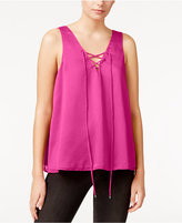 Rachel Roy Lace-Up Tank Top, Only at Macy's