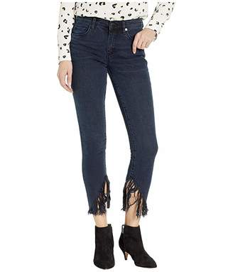 Blank NYC Skinny with Raw Hem Fringe Detail in Vixen