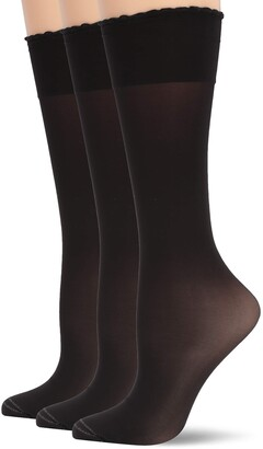 Hue Women's Graduated Compression Sheer Knee Hi Sock