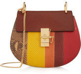 Chloé Drew Small Python And Leather Shoulder Bag - Claret