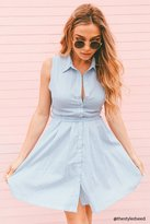 Forever 21 Belted Pinstripe Shirt Dress