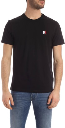 Ami Alexandre Mattiussi Crewneck Tee With Blue White Red Embroidery