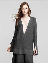 Calvin Klein Womens Cashmere V Neck Sweater