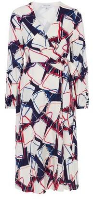 Emily And Fin Luna Abstract Handbag Print Wrap Dress - 8