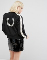 Fred Perry Embroidered Jacket with Contrast Sleeve