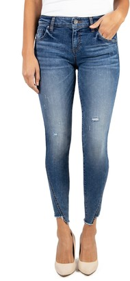KUT from the Kloth Connie Distressed Step Fray Hem Skinny Jeans