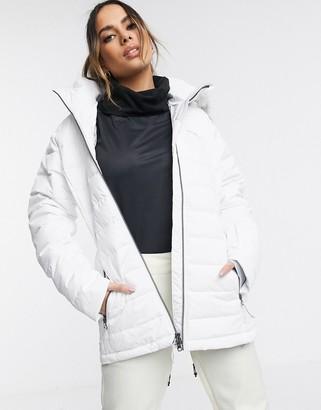 Columbia Ponderay ski jacket in white