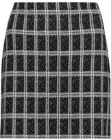 Theory Ketill Checked Jacquard-Knit Mini Skirt