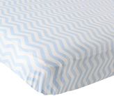 Luvable Friends Blue Chevron Fitted Crib Sheet