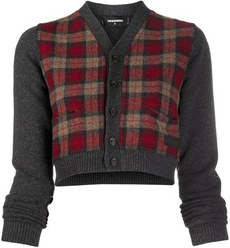 DSQUARED2 Checked Cropped Cardigan