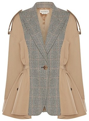 Alexander McQueen Spliced Plaid Trench Jacket