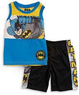 Nannette Boys 2-7 Little Boys Batman Tank and Shorts Set