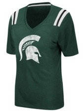 Colosseum Women's Michigan State Spartans Rock Paper Scissors T-Shirt