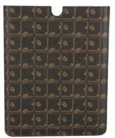 Dolce & Gabbana Leather 'Leaf' Print iPad Case