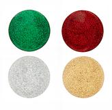 John Lewis Wood Glitter Coasters, Assorted, Dia.10cm, Set of 4