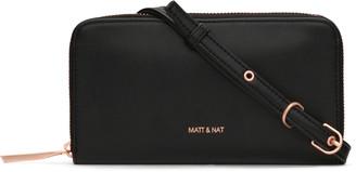 Matt & Nat INVER Crossbody Wallet - Black Rose Gold
