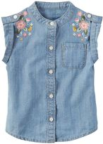 Carter's Girls 4-8 Embroidered Chambray Top