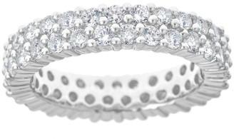 Affinity Diamond Jewelry Affinity 1-3/4 cttw Double Row Diamond Band Ring, 14K