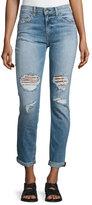 Rag & Bone Dre Distressed Rolled-Cuff Jeans, Carter