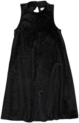 Harper Canyon Mock Neck Sparkle Velour Dress