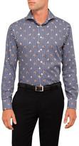 Eton Bulldog Print Check Slim Fit Shirt