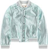 Bonpoint Metallic bomber jacket