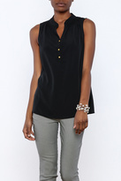 Macbeth Collection Sleeveless Chiffon Blouse