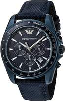 Emporio Armani Men's AR6132 Sport Blue Nylon Quartz Watch