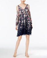 INC International Concepts Petite Printed Cold-Shoulder Trapeze Dress, Only at Macy's