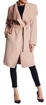 Soia & Kyo Drape Front Wool Blend Coat