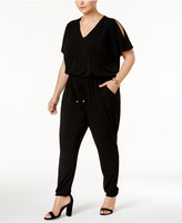 MICHAEL Michael Kors Size Cold-Shoulder Jumpsuit, a Macy's Exclusive Style