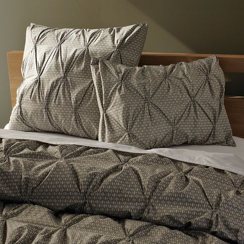 west elm Organic Rice Pintuck Duvet Cover + Shams