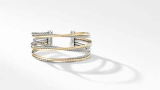 David Yurman The Crossover Collection Four-Row Cuff With 18K Yellow