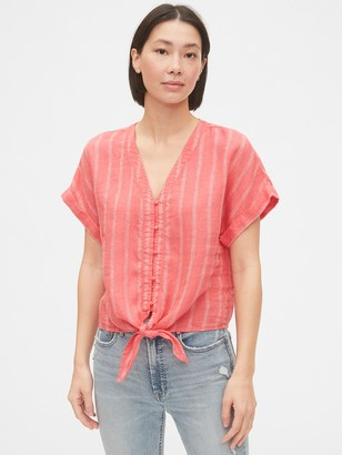 Gap Tie-Front Cropped Top