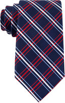 Tommy Hilfiger Men's Red Group Grid Tie