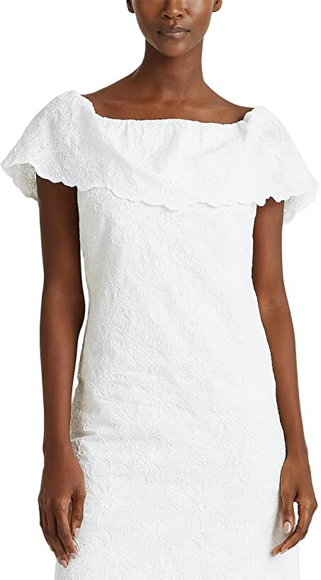 Thumbnail for your product : Lauren Ralph Lauren Tulle Off-the-Shoulder Dress