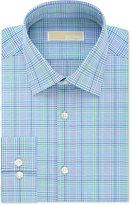 MICHAEL Michael Kors Men's Slim-Fit Non-Iron Aquamarine Check Dress Shirt