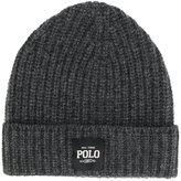 Polo Ralph Lauren logo patch ribbed beanie