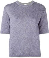 M Missoni metallic motif knitted T-shirt - women - Polyamide/Metallic Fibre - 40