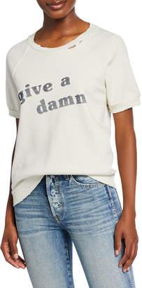 Amo Denim Graphic Short-Sleeve Crewneck Sweatshirt