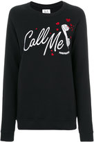 Zoe Karssen Call Me sweatshirt - women - Cotton/Polyester - XS