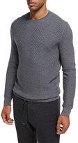 Ermenegildo Zegna Herringbone Crewneck Sweater