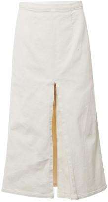 Miu Miu Ecru Cotton Skirt for Women