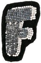 Olympia Le-Tan Alphabet patch - women - glass - One Size