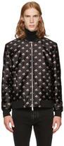 DSQUARED2 Black and Pink Floral Bomber Jacket