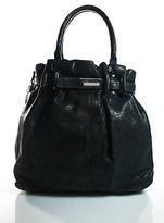 Lanvin Black Leather Kentucky Shoulder Handbag