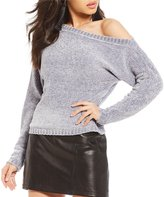 Gianni Bini Jenn Off-the-Shoulder Chenille Sweater