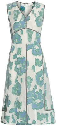 3.1 Phillip Lim Abstract Daisy Fil Coupe Dress