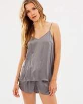 Papinelle Charcoal Silk Cami & Shorts